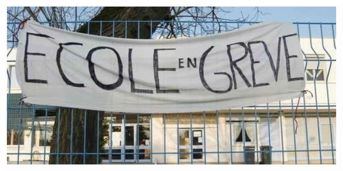 Grève contre les suppressions de postes à l'Éducation Nationale