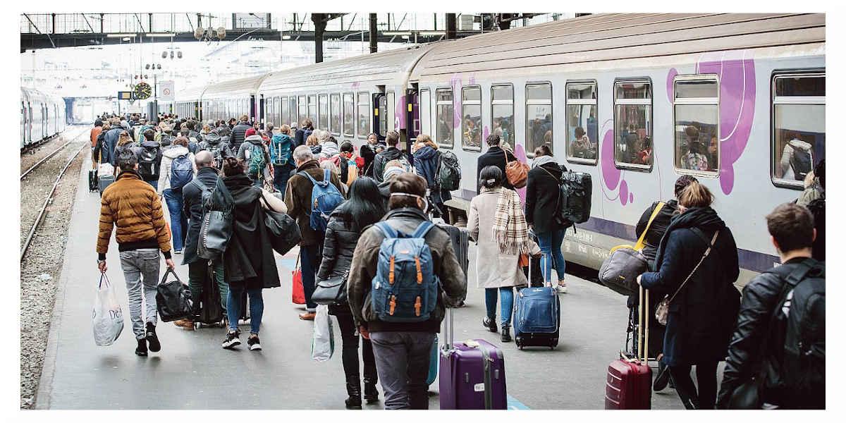 Départ de Paris avec des risques de contagions