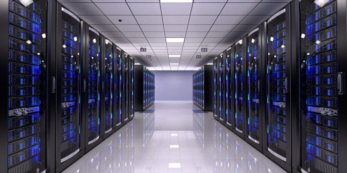 Salle de serveurs informatique