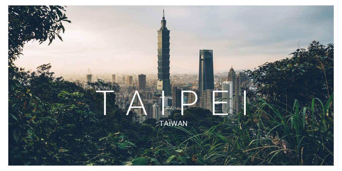 La capital de Taiwan