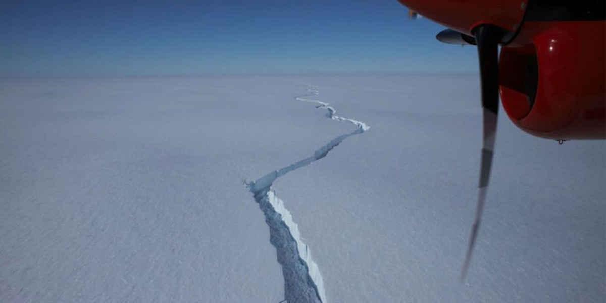 Les images de l'iceberg qui s'est détaché de l'Antarctique