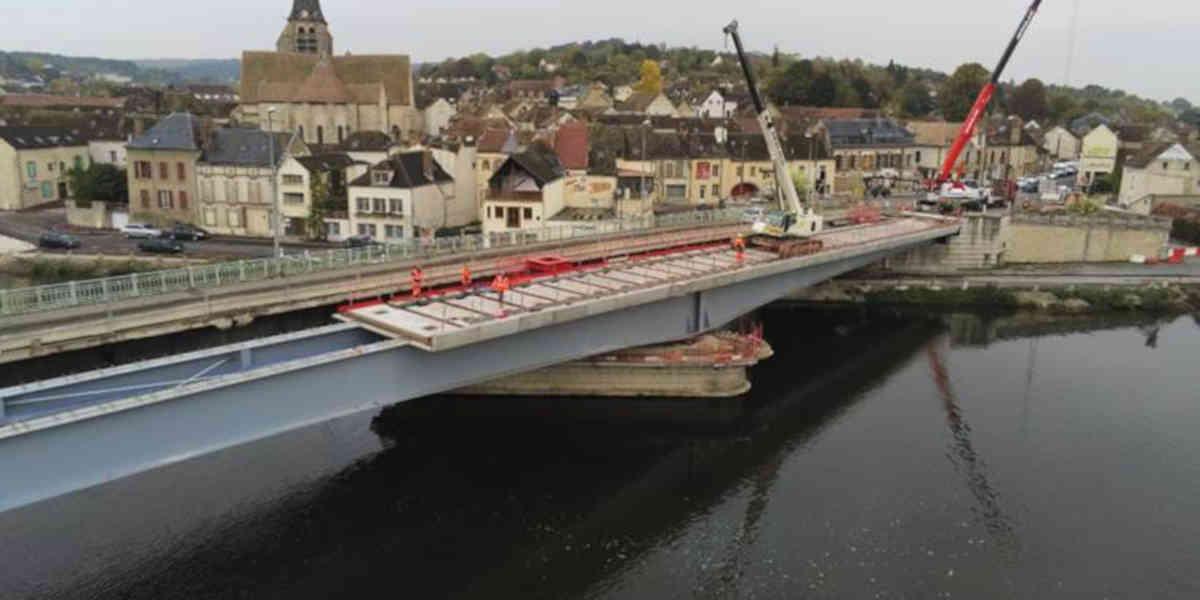 Le département de l'Yonne a refait un pont à neuf… mais trop bas