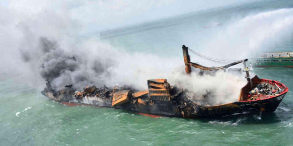 Le naufrage du porte-conteneurs MV X-Press cause des dommages a l'environnement plus graves que prévu